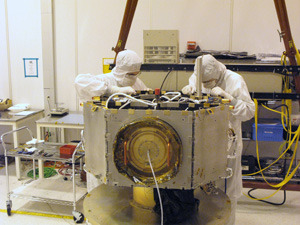 IBEX Spacecraft During Construction