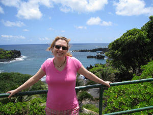 Michelle Nichols, Master Educator from Adler Planetarium, on the Road in Maui.